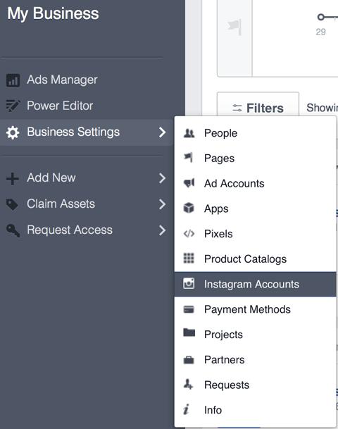 10- Business Manager hesabına instagram hesabı ekleme