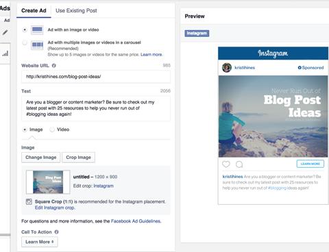 28- Instagram reklamlarını oluşturma