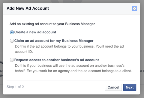 7- Business Manager'a Reklam hesabı ekleme- devam
