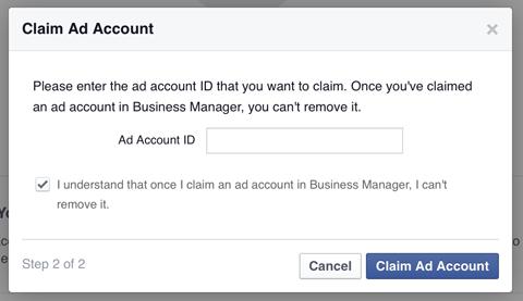 8- Business Manager hesabı için reklam ID hesabı belirleme